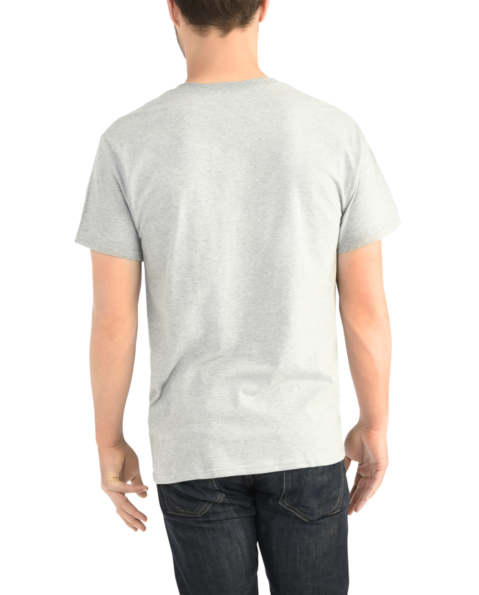 Men's Dual Defense® Pocket T Shirt, 1 Pack, Extended Sizes Steel Gray Heather