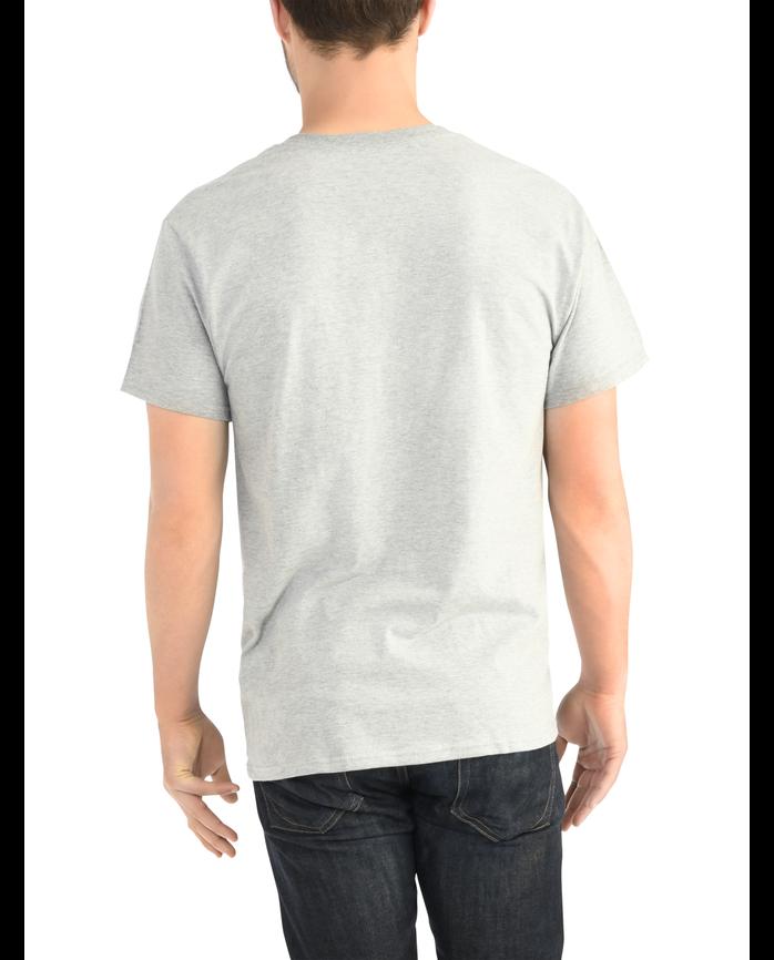 Big Men's Dual Defense UPF Short Sleeve Pocket T-Shirt Steel Gray Heather