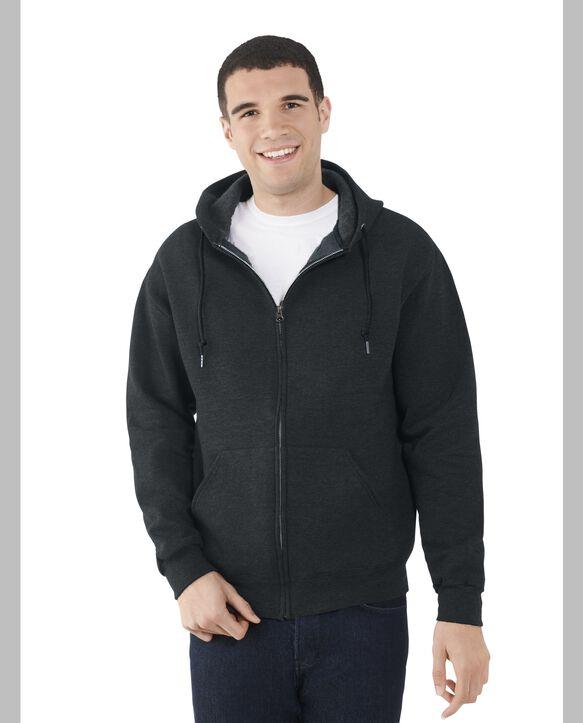 Men's EverSoft Fleece Full Zip Hoodie Jacket, 1 Pack Black Heather