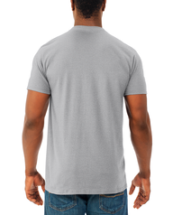 Men's Soft Short Sleeve V-Neck T-Shirt, 2 Pack, Extended Sizes Athletic Heather