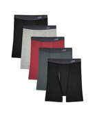 Men's CoolZone Fly Covered Waistband Boxer Briefs, 5 Pack ASSORTED