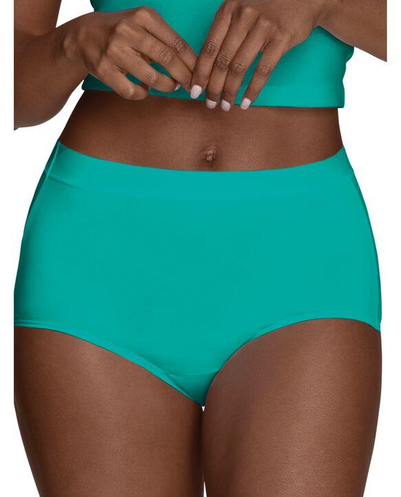 Women's Microfiber Brief Assorted Underwear, 6 Pack