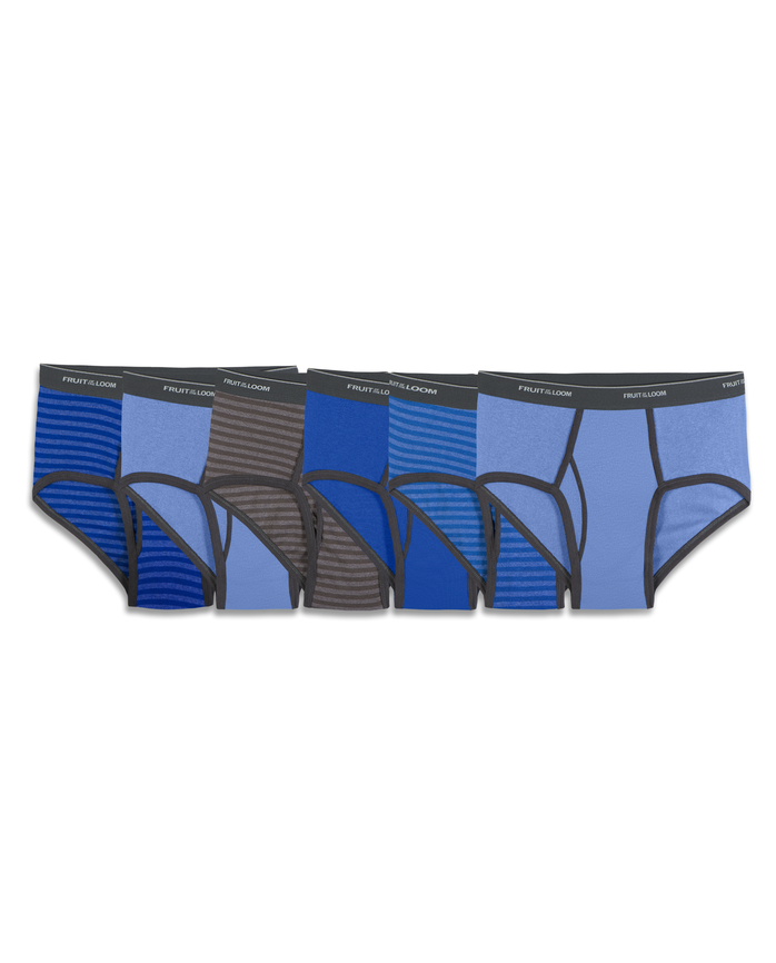 Men's 6 Pack Stripes Solids Fashion Brief