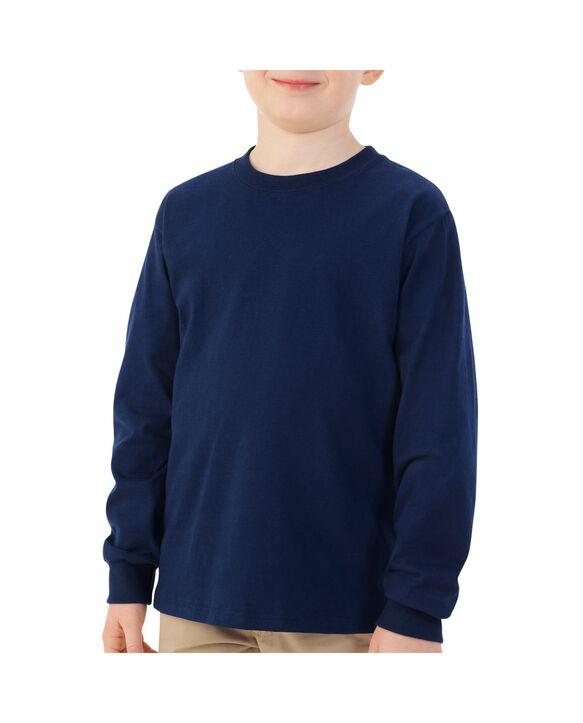 Boys'Long Sleeve T-Shirt, 1 Pack Navy
