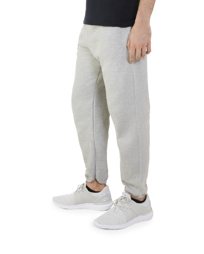 Big Men's EverSoft Fleece Elastic Bottom Sweatpants Steel Grey Heather