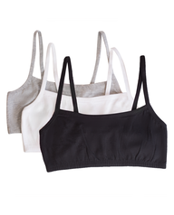 Women's Strappy Sports Bra, 3-Pack