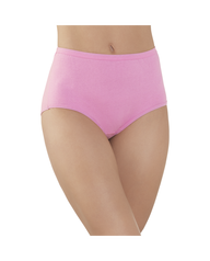 Women's Comfort Covered Cotton Brief, 6 Pack Assorted