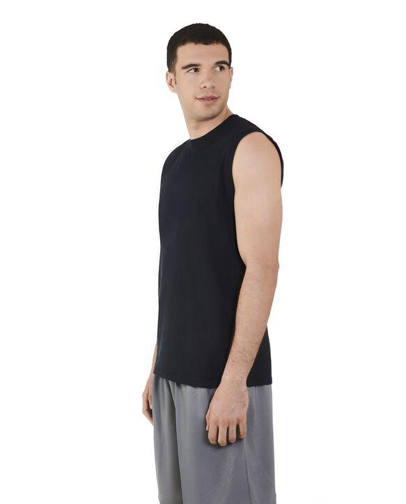 Men's Dual Defense UPF Sleeveless Muscle Shirt Black
