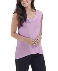 Women's Seek No Further Scoop Neck Shell Tank Top Lilac