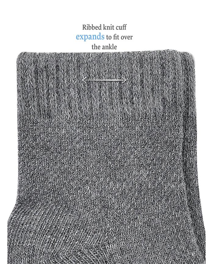 Baby Sock Gift Set, Breathable Crew-Length Socks, 12 Pack Grey Multi