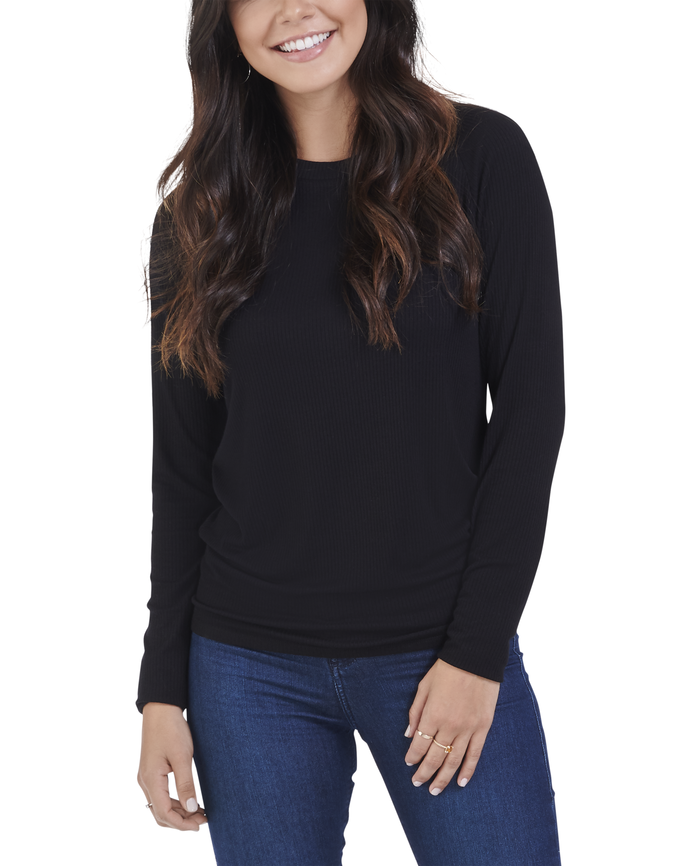 Women's Seek No Further® Long Sleeve Ribbed Crew Neck T Shirt, 1 Pack