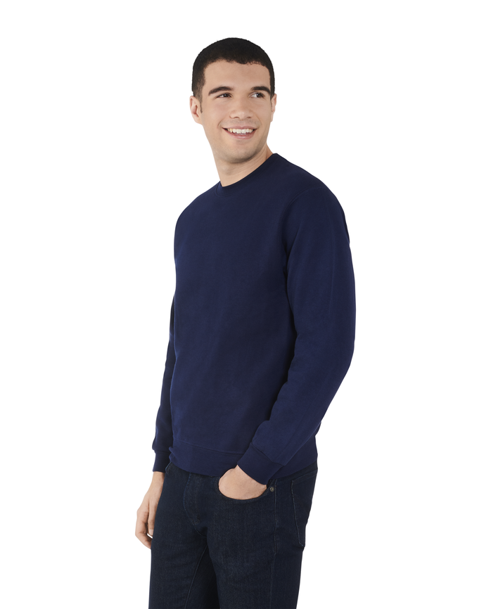 Men's EverSoft Fleece Crew Sweatshirt, 1 Pack J.Navy