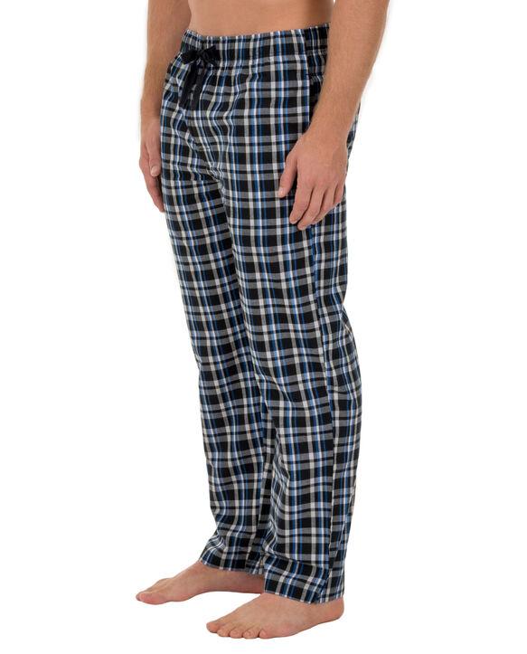 Men's Woven Plaid Pant, 1 Pack BLACK