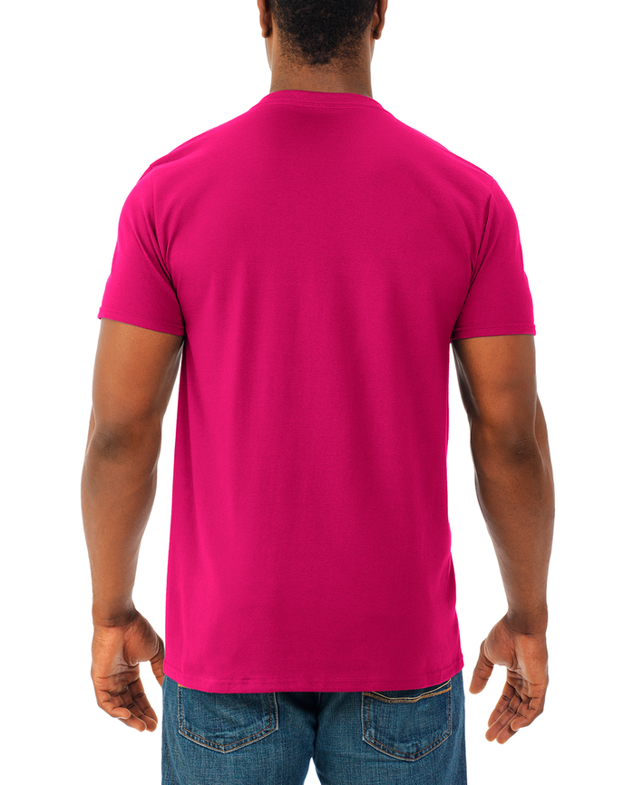 Men's Soft Short Sleeve V-Neck T-Shirt, 2 Pack Cyber Pink