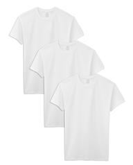 Tall Men's Short Sleeve White Crew T-Shirts, 3 Pack White