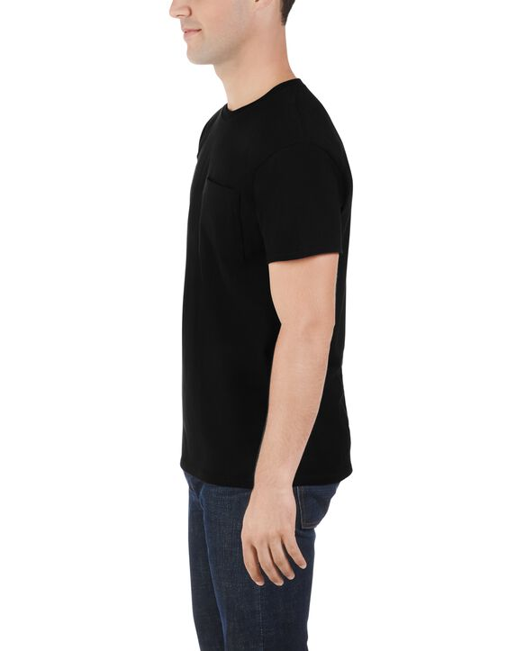 Men's Dual Defense UPF Short Sleeve Pocket T-Shirt, 1 Pack Black