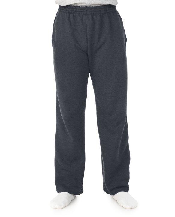 Men's Super Soft Fleece Open Bottom Sweatpants, 1 Pack Charcoal Heather
