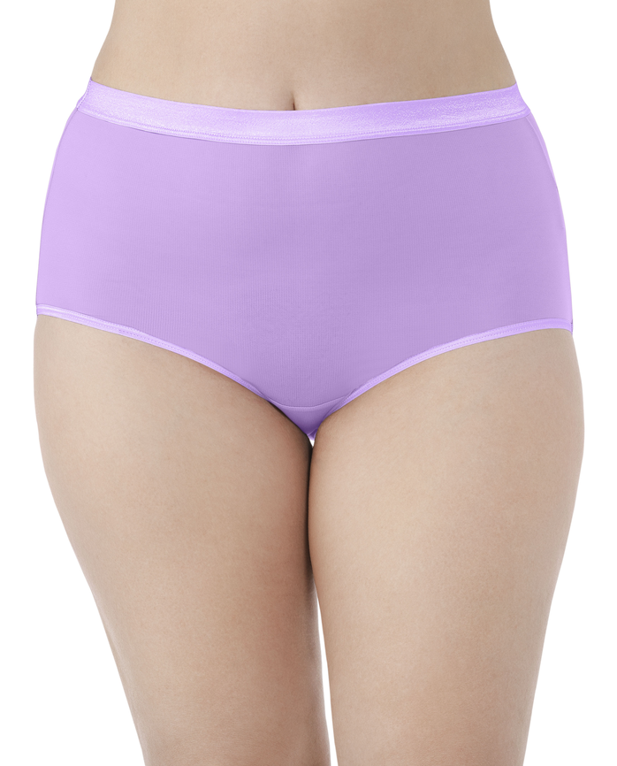 4ef3b689ec12 Women's Fit for Me by EverLight Briefs Plus Size Panties, 4 Pack Assorted