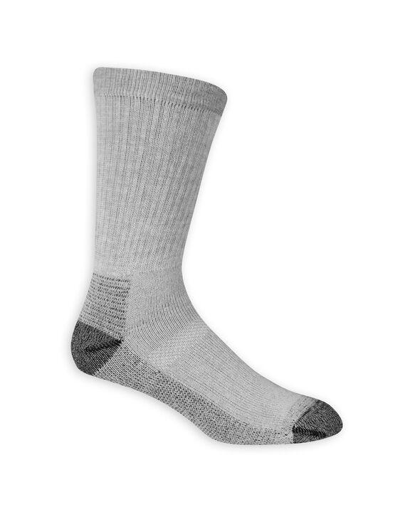 Men's Work Gear Crew Socks, 6 Pack GREY/BLACK