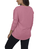 Women's Essentials Long Sleeve French Terry Top, 1 Pack Rose Heather