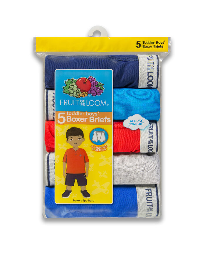 Toddler Boys' Assorted Boxer Briefs, 5 Pack ASSORTED