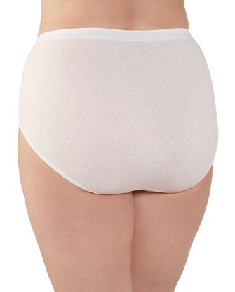 Women's Plus Size Fit for Me® by Fruit of the Loom® Cotton White Brief Panty, 3 Pack