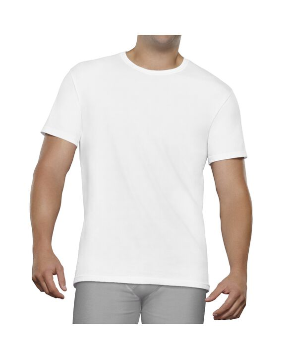 Fruit of the Loom Premium Breathable Cotton Mesh Big Man Crew T-Shirts 3 Pack - White