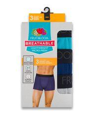 Men's Breathable Short Leg Boxer Briefs , 3 Pack, Size 2XL Assorted