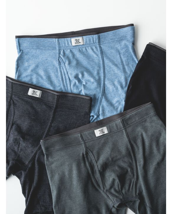 Men's Crafted Comfort  Fabric Covered Waistband Black Boxer Briefs, 3 Pack Black