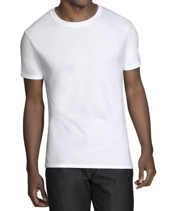 Men's Short Sleeve Tapered Crew T-Shirts, 6 Pack