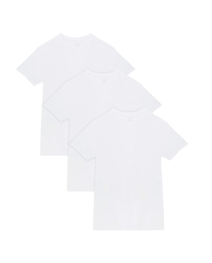 Men's Big and Tall White Crew Neck T-Shirts, 3 Pack