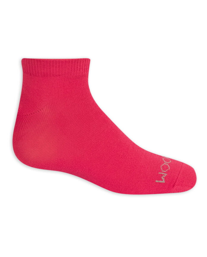 Girls' Lightweight Low Cut Socks, 10 Pack WHITE/PURPLE, WHITE/PINK, WHITE/BLUE, WHITE, BLUE, PURPLE, PINK