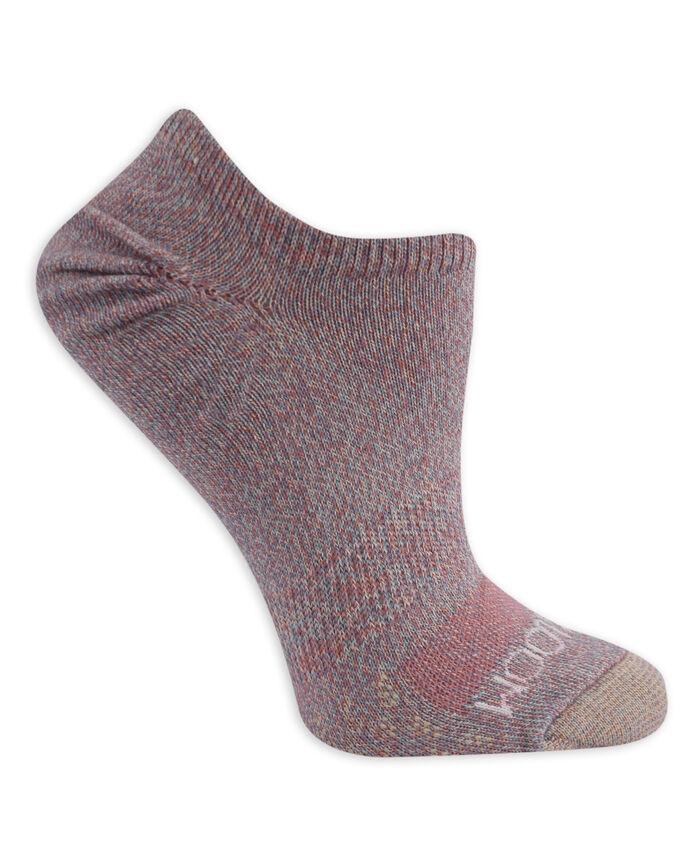 Women's On Her Feet Lightweight No Show Socks, 3 Pack, Size 4-10 PEACH/BLUE, WHITE/BLUE, WHITE/PEACH