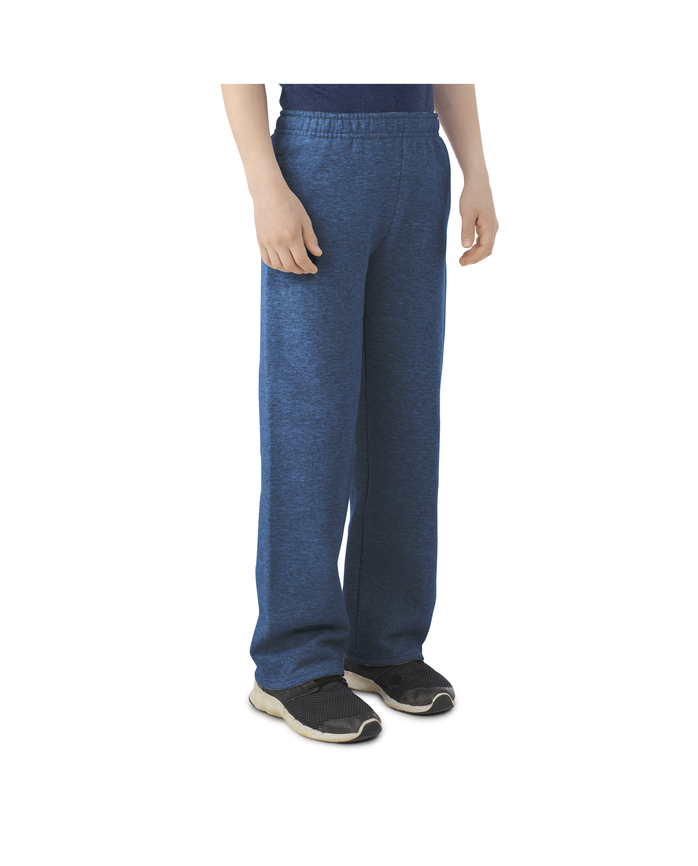 Boys Fleece Open Bottom Sweatpants Smoke Blue