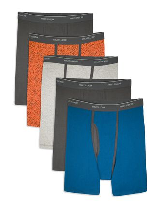 Men's CoolZone Fly Ringer Boxer Briefs, 5 Pack