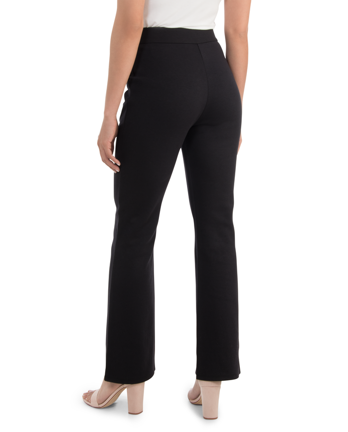 Women's High Waisted Pleated Fit and Flare Pants Brilliant Black