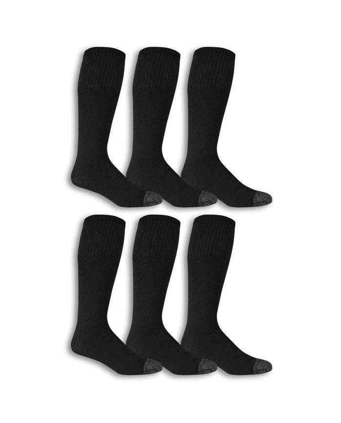 Men's Work Gear Tube Socks, 10 Pack, Size 6-12 BLACK/CHARCOAL