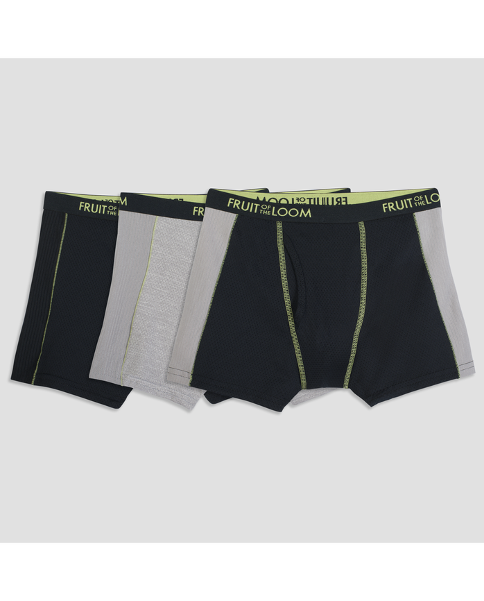 Boys' Breathable Ultra Flex Boxer Briefs - Assorted Colors, 3 Pack