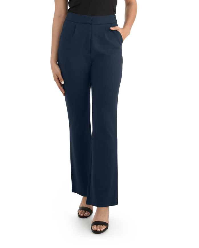 Women's High Waisted Pleated Fit and Flare Pants