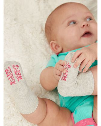 Baby Grow & Fit Socks, 6 Pack