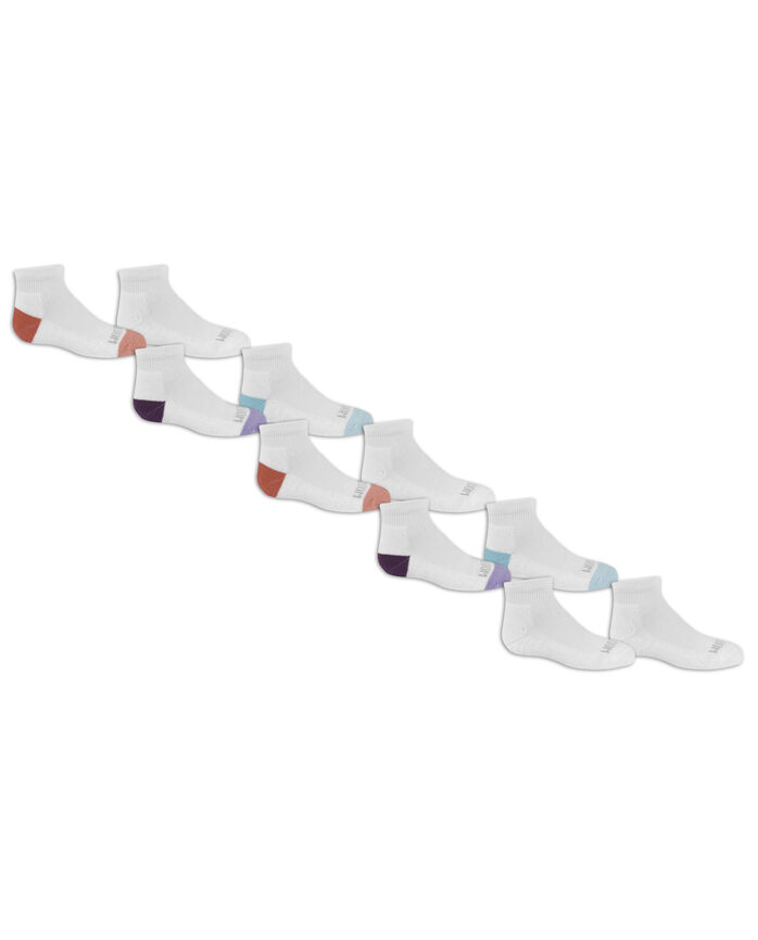 Girls' Cushioned Everyday Soft Ankle Socks 10 Pair
