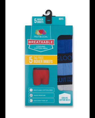 Boys' Breathable Cotton Mesh Boxer Brief, 5 Pack