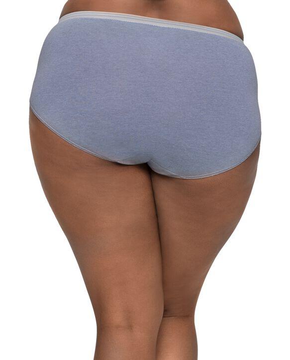Women's Plus Heather Assorted Brief Underwear, 6+2 Bonus Pack