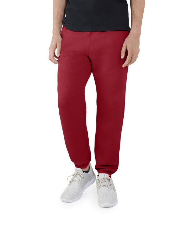Men's EverSoft Fleece Elastic Bottom Sweatpants, Extended Sizes, 1 Pack Brilliant Red