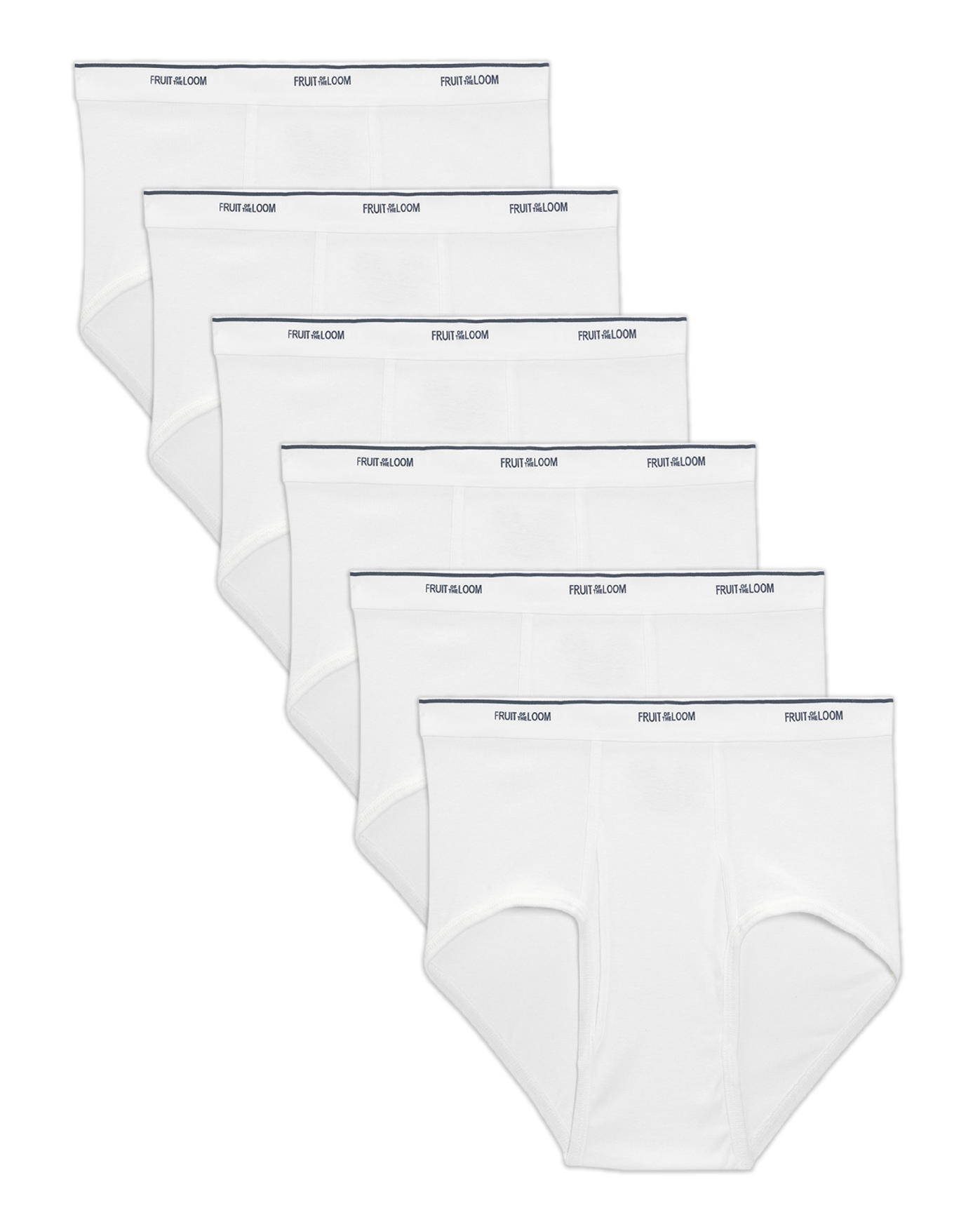 390ff01ebe321c Men s 6 Pack Classic White Brief Extended Sizes - Fruit US