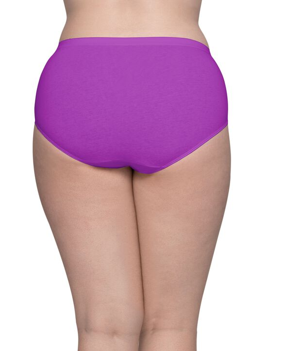 Women's Plus Size Fit for Me® by Fruit of the Loom® Comfort Covered Cotton Assorted Brief Panty, 6 Pack Assorted