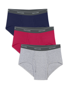 Men's Assorted Mid Rise Brief, 3 Pack Assorted