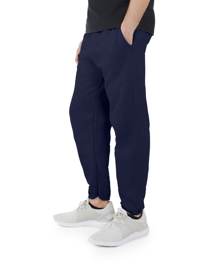 Big Men's EverSoft Fleece Elastic Bottom Sweatpants J.Navy