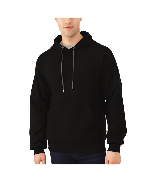 Big Men's EverSoft Fleece Pullover Hoodie Sweatshirt, 1 Pack Black