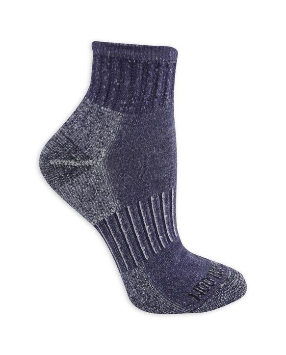 Women's On Her Feet Cotton Zone Cushion Ankle Socks, 3 Pack GREY/DENIM, GREY/PINK, BLACK/GREY